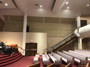 sanctuary acoustics with sound panels