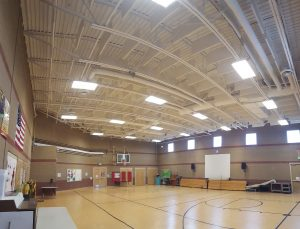 sound baffles quiet a gym by controlling echoes to soundproof the gymnasium