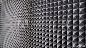 acoustic foam panels for capturing echoes and soundproofing a room
