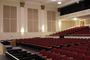 acoustic treatment for echo in auditorium