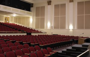 wall mounted acoustic panels in auditorium for sound control