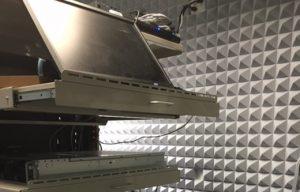 acoustic panels back wall computer rack noise