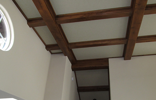 sound panels recessed into ceiling for soundproofing a room