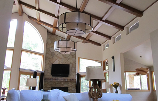 great room acoustics for residential soundproofing with ceiling mounted sound panels