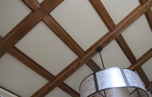 residential noise control with ceiling mounted sound panels