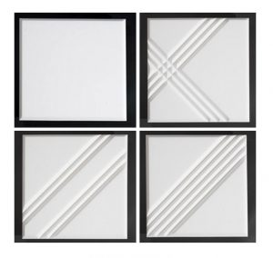 acoustic ceiling tiles with bevel edge patterns