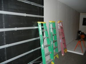dB-Bloc sound barrier membrane blocks common wall noise bleed