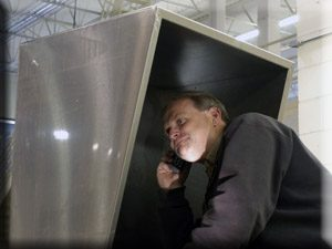soundproof booth for telephones and phones
