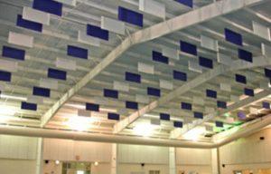 ceiling acoustic baffles for natatorium noise control