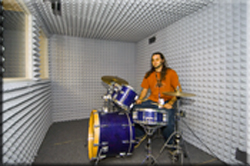 sound panels control noise in drum booth