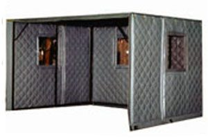 Partial Noise Enclosures with Sound Blankets