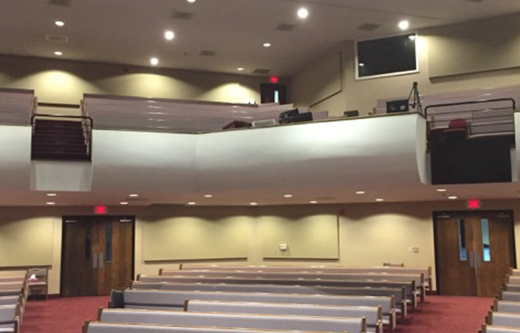 sanctuary acoustics improve with wall mounted acoustic panels