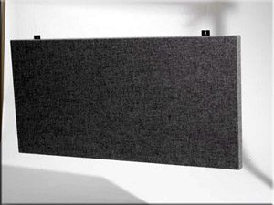 cloth wrapped sound baffles for soundproofing