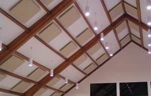 Sound Absorbing Panels or Sound Deadening Panels can be used in Fellowship Halls