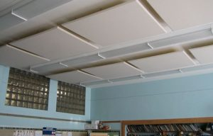 sound clouds in a ceiling control classroom acoustics