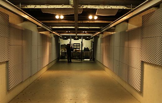gun range soundproofing with acoustic foam panels