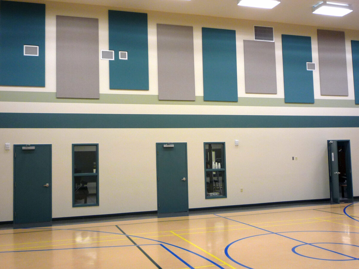 Fabric Acoustic Panels in Gym Soundproofing Treatment