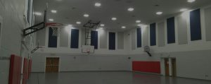 sound panels in a gym reduce noise level exposure