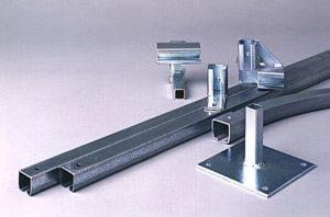 metal track hardware to suspend sound control blankets