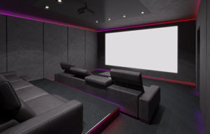 Home Theaters Require Controlling Sound wave reverberations for premium acoustics