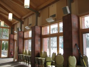 multipurpose room improves sound quality with sound panels by NetWell that control echoes and produce premium sound quality for soundproofing a multipurpose room