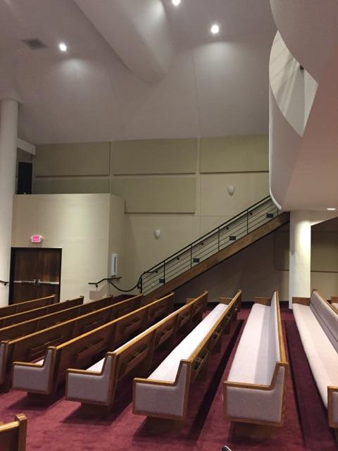 sound panels in sanctuary improves sound quality