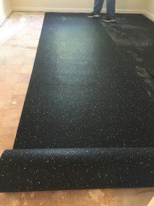 Floor soundproofing with Floorfighter underlay