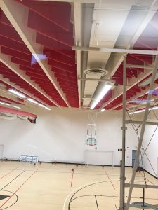 Acoustic Baffles and Hanging Sound Baffles in a Gymnasium