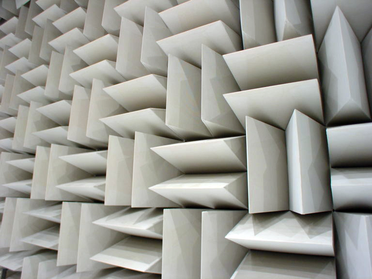 anechoic foam panels for controlling noise