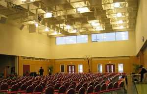 soundproofing a multipurpose room with acoustic baffles