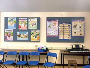 Classroom Sound Panels that Double as Bulletin Boards