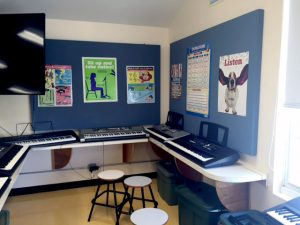 bulletin boards that serve as sound panels to control classroom noise