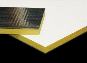 acoustic ceiling tiles with metal foil back for soundproofing a ceiling