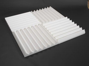 melamine foam linear wedge sound panels for noise control