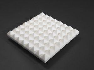 pyramid foam panels control sound wave reflections