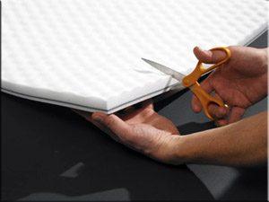 enclosure lining acoustical foam membrane for soundproofing loud machines