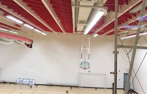 acoustic panels ceiling suspended for gymnasium soundproofing