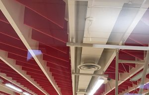 gym sound baffles controlling excessive noise in a gym