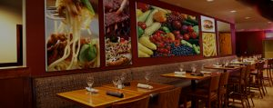 controlling echoes in a loud restaurant with custom imaged sound panels