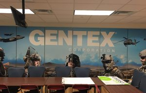branding a conference room with logo printed on sound panels
