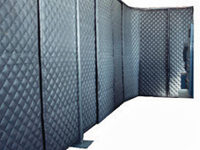 floor mounted sound barrier curtains for soundproofing