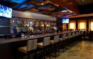 soundproofing a bar with overhead custom imaged sound panels