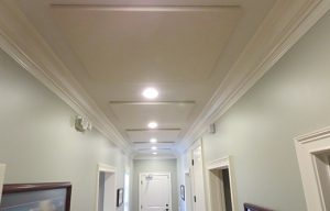 ceiling sound panels improve sound quality in loud office space