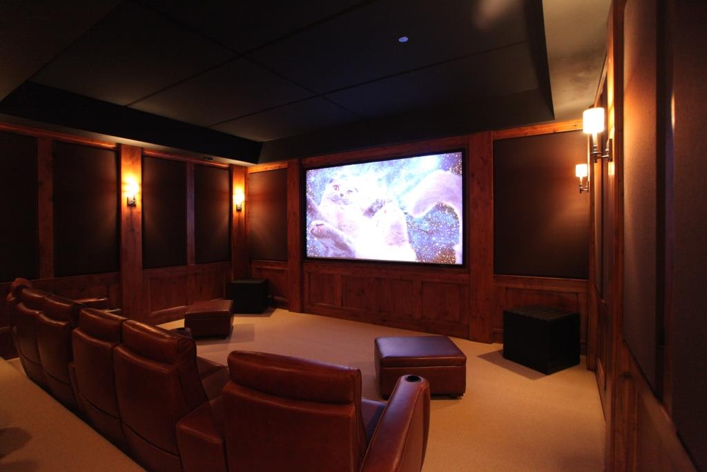 Home Theater sound quality improves with acoustic Fabric Panels to control echo