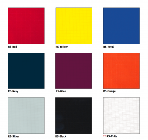 color options for Netwell's Sail Cloth Sound Baffles