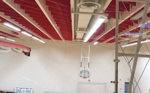 sound baffles reduce echoes for gym soundproofing
