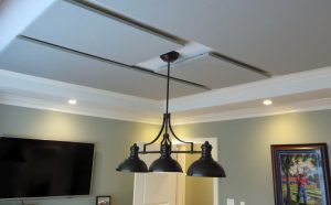 ceiling clouds controlling noise exposure levels for conference room soundproofing