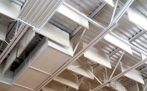 White Sound Baffles in Ceiling Soundproofing