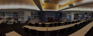 designer sound panels controlling sound quality in a loud conference room