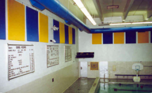 natatorium soundproofing with wall mounted sound panels